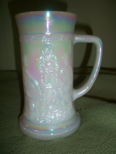 Fire King Iridescent German Style Stein Mug Glass Cup (Fire King Glass Mug)