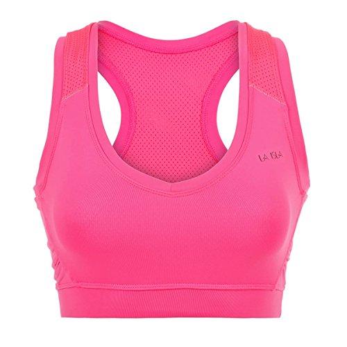 La Isla - Sujetador Deportivo de Cuello V Para Mujer Hot Pink