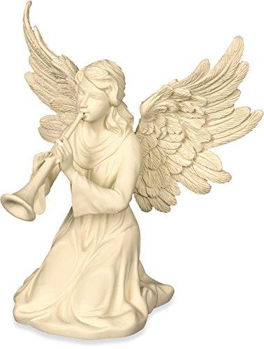 AngelStar Angel with Horn Figurine, 4-1/4-Inch ()