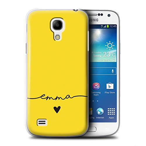 Personalized Custom Colour/Color Palette Case for Samsung Galaxy S4 Mini/Golden Yellow Design/Initial/Name/Text DIY Cover