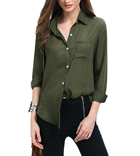 LouKeith-Women-Button-Down-Front-Pocket-Long-Sleeve-Mid-long-Shirt-Blouse-Tops