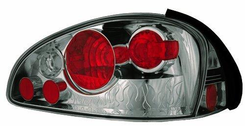 Eyes Crystal Smoke Led Tail (IPCW CWT-CE339CS Crystal Eyes Platinum Smoke Clear Eyes Tail Lamp -)