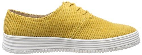 Mustard Bianco para Casual Laced Amarillo Shoe Up 724 Zapatillas Mujer 8Bn87rXx