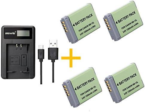 1 piezas 1250 mAh NB-13L NB13L Batería con cargador de ...