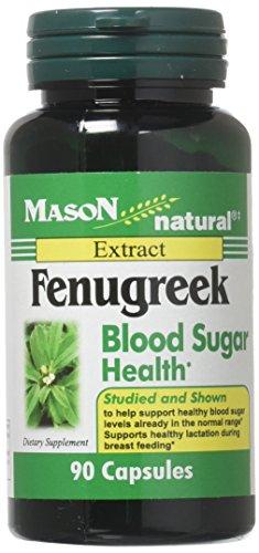 Fenugreek Blood Sugar - Mason Vitamins Fenugreek Blood Sugar Health Capsules, 60 Count