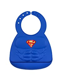 Bumkins DC Comics Silicone Muscle Bib, Superman (6-24 Months)
