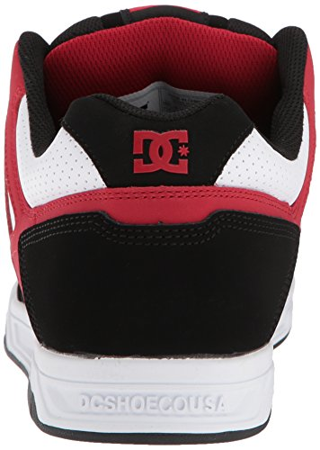 DC Shoes Sneaker Black Uomo White Red STAG OCxrZwO