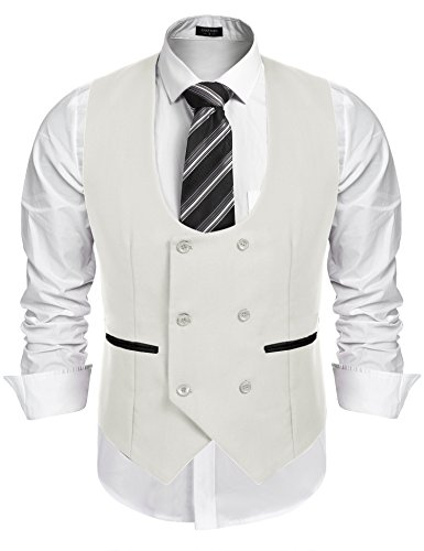 Used, COOFANDY Men's Slim Fit Dress Suits Double Breasted for sale  Delivered anywhere in USA