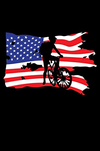 Journal: Patriot Biker Bicycle US Flag Cyclist Bicyclist Black Lined Notebook Writing Diary - 120 Pages 6 x 9 por InGENIUS Publications