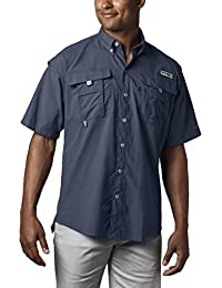 Men's PFG Bahama II Short Sleeve Shirt, Breathable with...