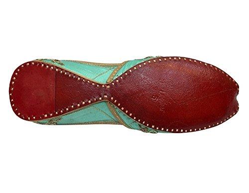 Step n Style , Damen Sandalen grün meergrün