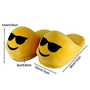 "11"" Cute Emoji Emotion Children Adult Slippers Shoes Warm Funny Emoji Slippers Winter Plush Slide Slipper Great Birthday Day Valentine's Day Gift for Lovers"