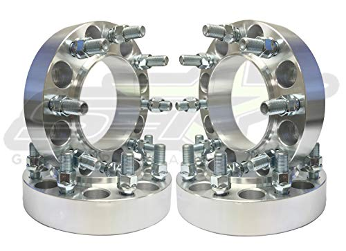 - SET Group USA 8x6.5 to 8x170 Hub Centric Wheel Adapters 1.5 Inch Thick 9/16 Studs | Works with 8x170 Ford F-250 F-350 Wheels to Use On Old 8X6.5 Ford Trucks