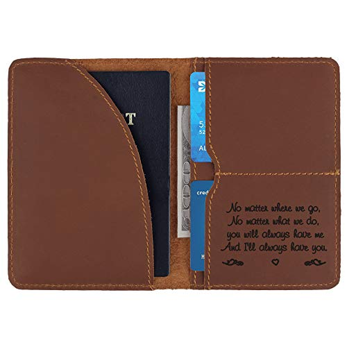 Personalized Leather Passport Holder for Men Passport Cover Traveler Gifts Unique gifts for Boyfriend Husband