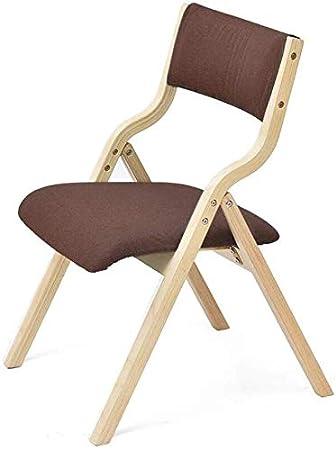 MJK Sillas, marco de madera plegable Telas de lino extraíbles ...