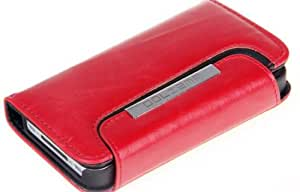 Basicase Ruby Vintage Skin Wallet Leather with Fold Stand Case for iPhone 4 4S CC048 with Special Free Gift by Bydico