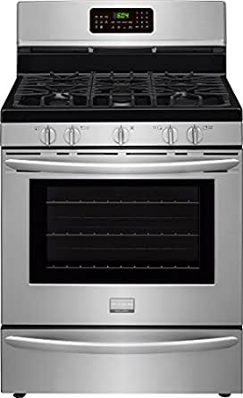 "Frigidaire FGGF3058RF 30"" Gallery Series Gas Range with 5.0 cu. ft. Oven Capacity, 5 Top Burners in Smudge-Proof Stainless Steel"