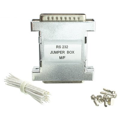 RS-232 Jumper Box, DB25 Male to DB25 Female ( 5 PACK ) BY (Db25 Female Rs 232 Jumper)