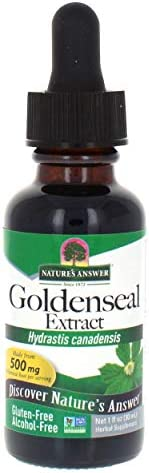 Nature s Answer Goldenseal Root Herbal Supplement Supports A Healthy Immune System Gluten-Free Alcohol-Free 1oz