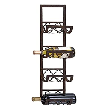 Deco 79 Metal Wall Wine Rack, 28 by 8-Inch