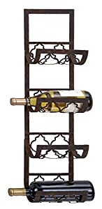 deco 79 metal wall wine rack 28 by 8inch