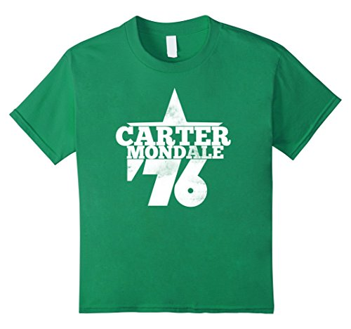 Carter Mondale 76 shirt Jimmy carter 1976 vintage tshirt - Kids 12 - Kelly Green