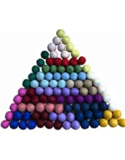Mililanyo 100pc 2cm Colorful DIY Felted Pom Pom Garland Wool Balls Felt Balls (20 colors)