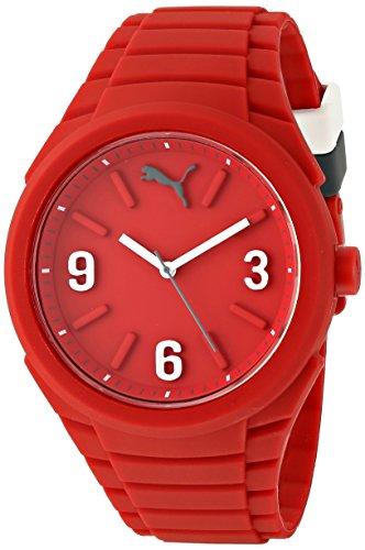 PUMA Unisex PU103592005 Gummy Analog Display Analog Quartz Red Watch