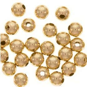 UnCommon Artistry Seamless Round 14k Gold Filled Beads - 4mm (5) ()