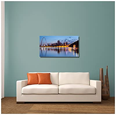"Pingo World ""St Louis KY Panoramic Skyline"" Gallery Wrapped Canvas Wall Art"
