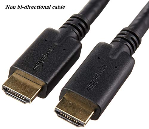 (AmazonBasics High-Speed HDMI Cable, 35 Feet, 1-Pack with RedMere)