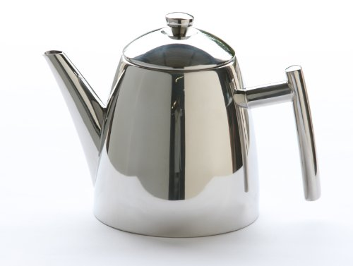 Frieling USA 18/8 Stainless Steel Primo Teapot with Infuser, 34-ounce - Double Handle Teapot