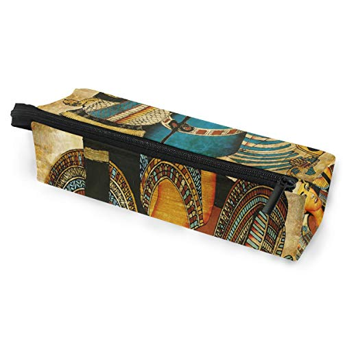Toprint Vintage Ethnic Egyptian Egypt Glasses Bag Pouch Portable Travel Zipper Light Sunglasses Case Pencil Case Cosmetic Bag
