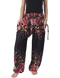 Women's Flowers Yoga Boho Pants Long Beach Summer Pants