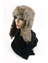 Women's Trapper Houndstooth Winter Ear Flap Hat 902HT