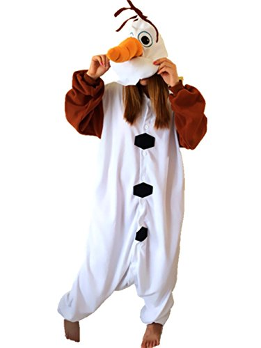 Newcosplay Adult Anime Unisex Olaf Pyjamas Halloween Costume (XL) - Olaf Halloween Costumes Adult