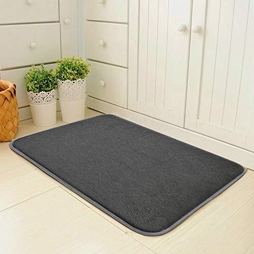 (dongzhifeng Rug Rugs Welcome Mat Door Mat Matt Indoor Matt Outdoor Entrance Mat Kitchen Absorbent Carpet Mat Living Room Skid Tapete 5080cm Gray)