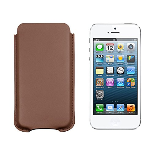 Lucrin - Ledertasche Apple iPhone 5/ 5s - Cognac - Glattleder