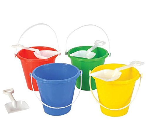 (Neliblu Beach Sand Pails with Shovels Pool Party Toys 5.5