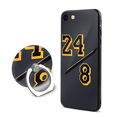Favorite Basketball Player iPhone 8 Case KOB-e Bryant Black-Mamba Phone Case Cover Suitable for iPhone 7/8