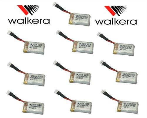 HobbyFlip 3.7v 240mAh Lipo Battery Rechargeable HM-Mini CP-Z-17 Compatible with X-Drone Nano H107R 10 Pack (Nano Xdrone Battery)