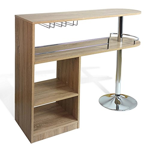 Eight24hours kitchen cocktail bar unit table oak for Home bar furniture abu dhabi