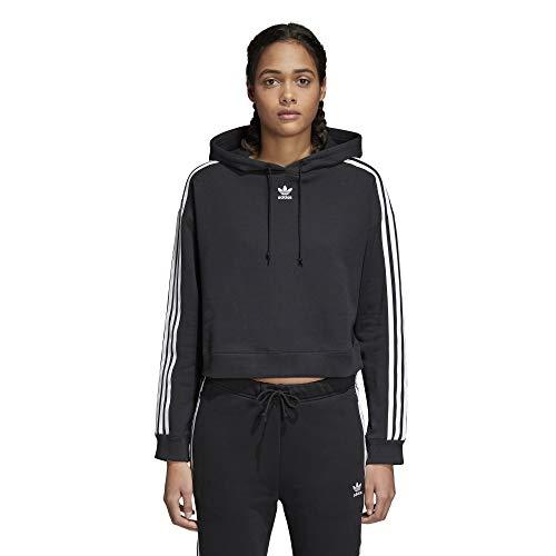 adidas Originals Women's Cropped Hoodie, Black, L (Money Crop Top)