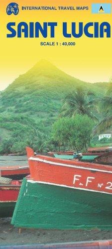 Saint Lucia 1:40,000 Travel Map (International Travel Maps)