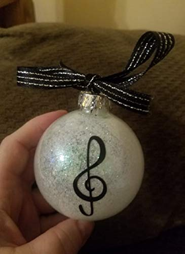 (Music - Muscial - Music Note - Gift Exchange - Glittered Ornament - Ornament - Gift)