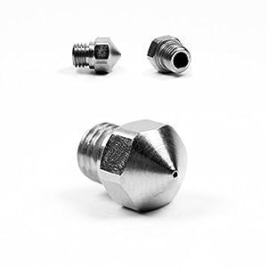 Micro Swiss Plated Wear Resistant Nozzle MK10 FlashForge, Dremel, PowerSpec, Wanhao, Monoprice, Cocoon Create .2mm by Micro Swiss LLC