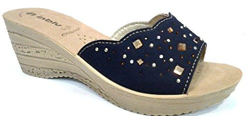 INBLU , Damen Sandalen blau blau 38 EU
