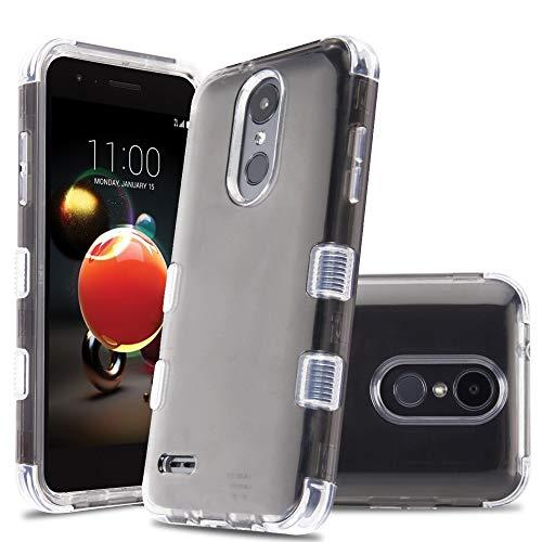 HD Accessory Military Grade Certified TUFF Lucid Hybrid Case for LG Aristo 3 / Aristo 2 Plus/Fortune 2 / Tribute Empire - Smoke (Lg Lucid 2 Phone Cases)