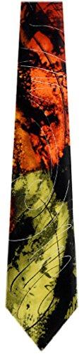 JG-XL-5933 - Jerry Garcia Mens Extra Long Fashion Designer Brand Silk Necktie Ties (Extra Long Designer Ties)
