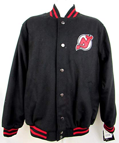 - G-III Sports New Jersey Devils Mens Size Large Snap Front Wool Blend Jacket ANJD 19 L